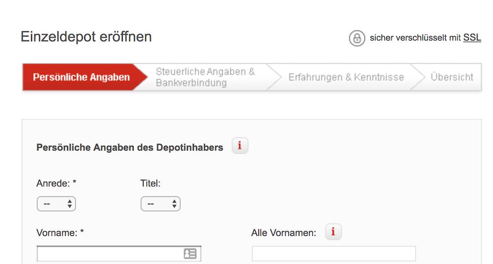 Aktiendepot Sparkasse - S Broker Kontoeröffnung