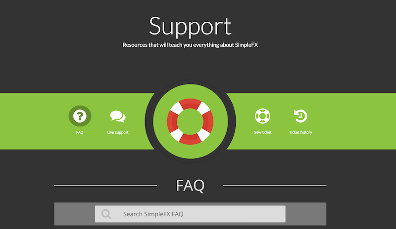SimpleFX Kundenservice