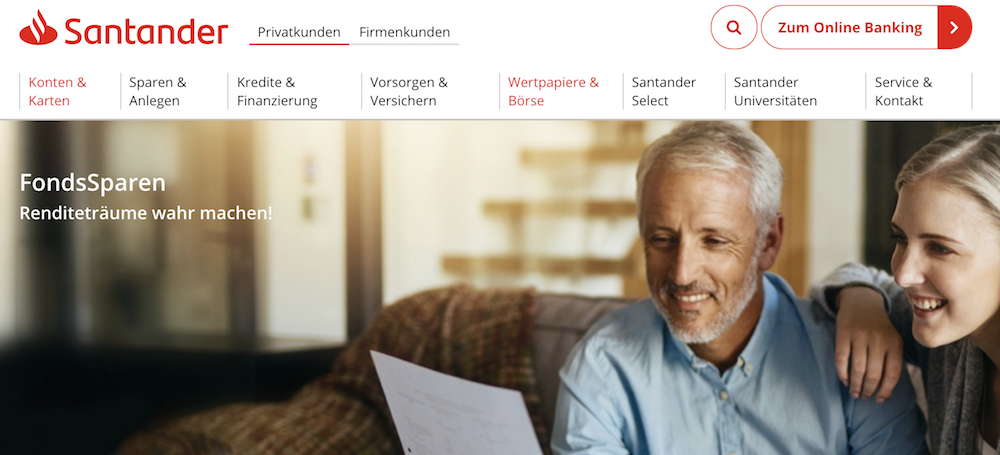 Santander Bank Fonds-Sparplan