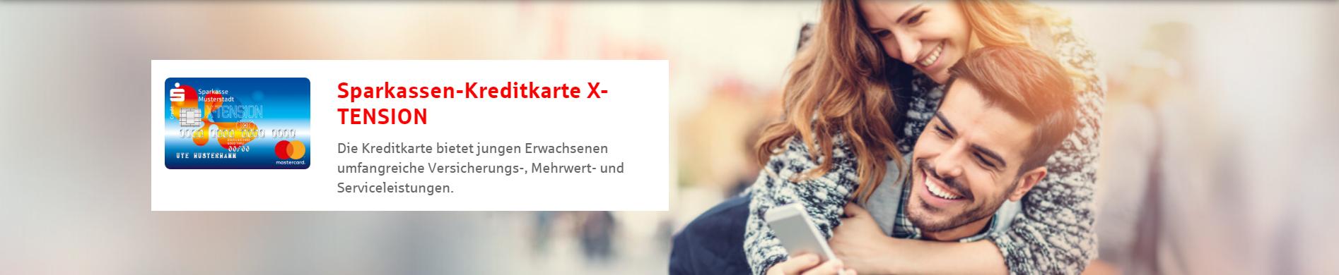 Die Sparkasen-Kreditkarte X-TENSION für junge Leute