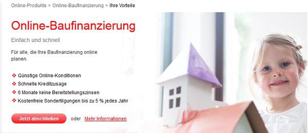 Online Baufinanzierung der Sparkasse Hannover