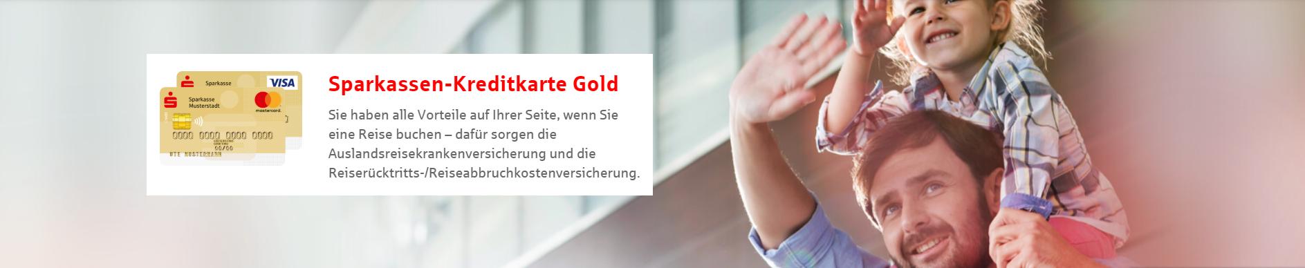 Die Gold Sparkassen-Kreditkarte