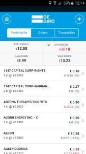 Degiro App Depot
