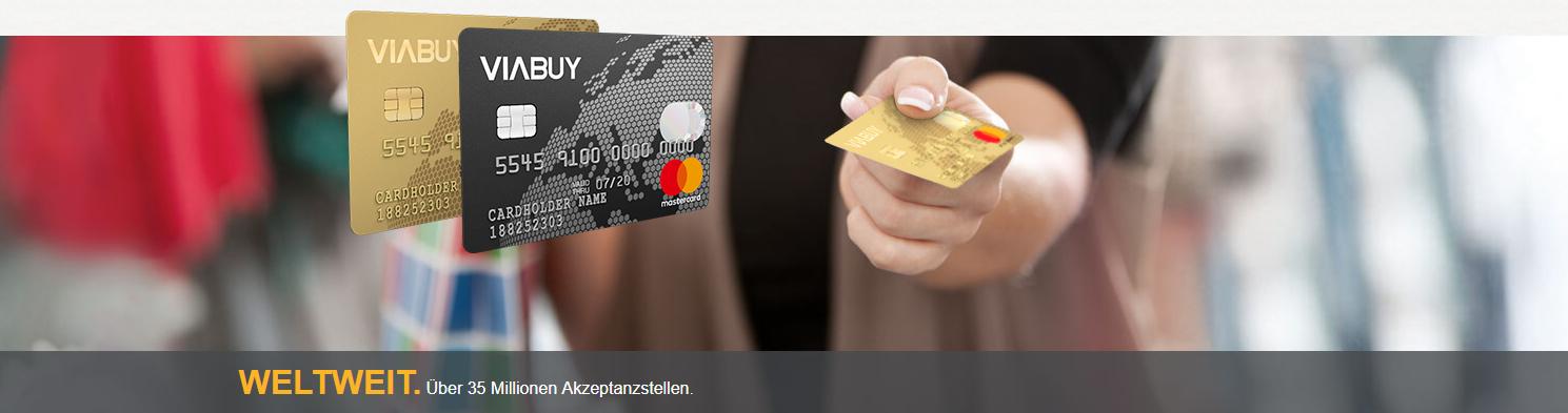 Die VIABUY Mastercard wird weltweit akzeptiert
