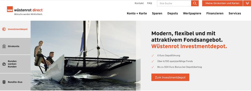 Wüstenrot direct Homepage