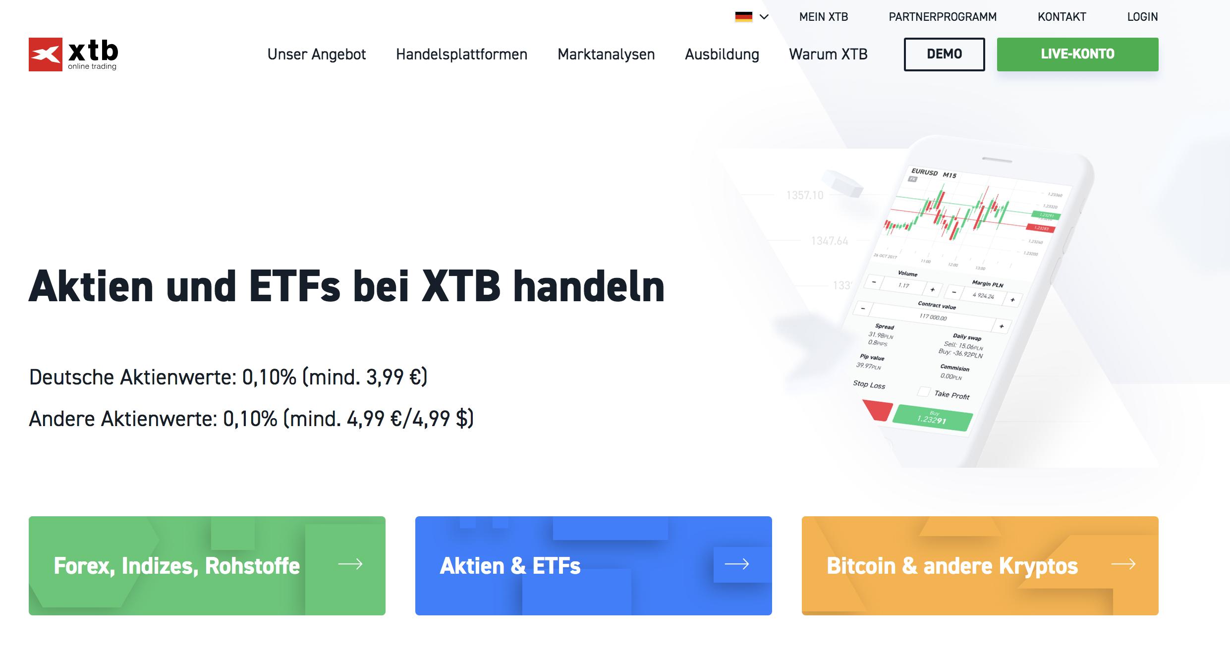 XTB Aktien Erfahrungen von Depotvergleich.com