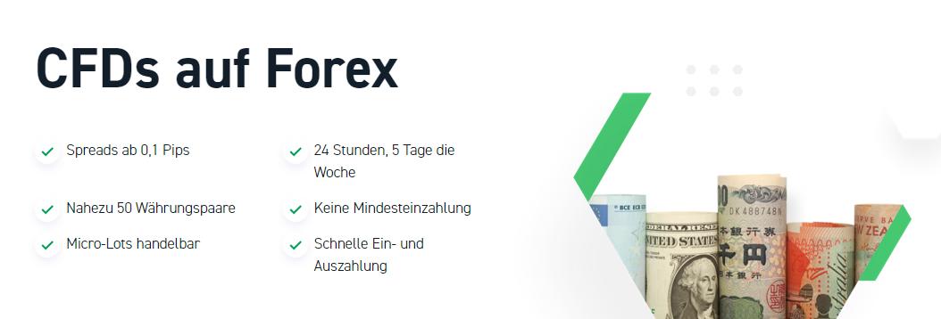 XTB bietet CFDs auf Forex an