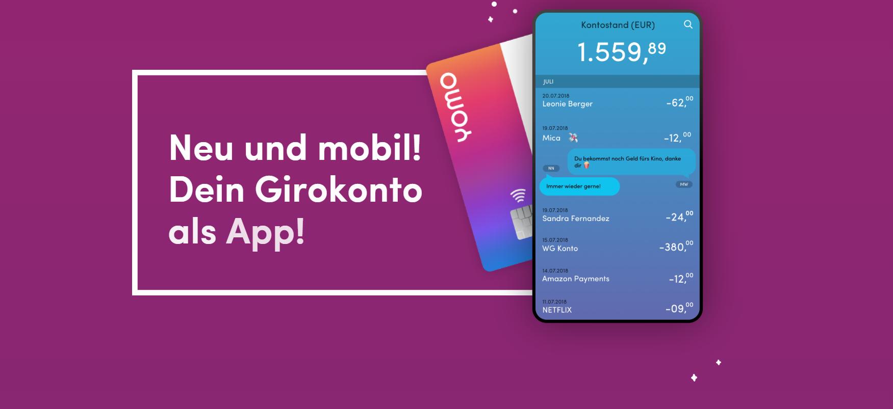 yomo bietet das Girokonto als App