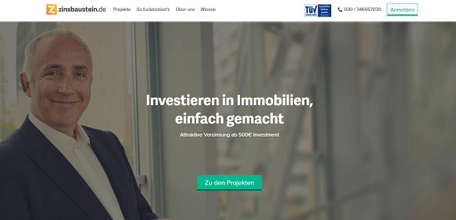 Zinsbaustein.de Webseite