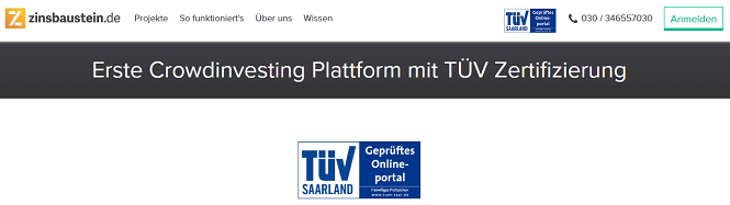 Zinsbaustein.de TÜV-zertifiziert