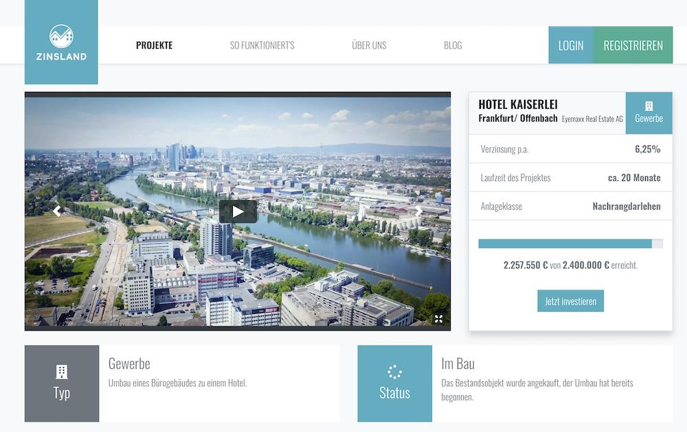 """Zinsland Projektbeschreibung """"Hotel Kaiserlei"""""""