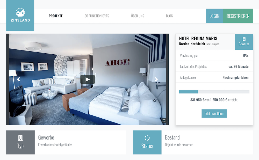 "Zinsland Projektbeschreibung ""Hotel Regina Maris"""